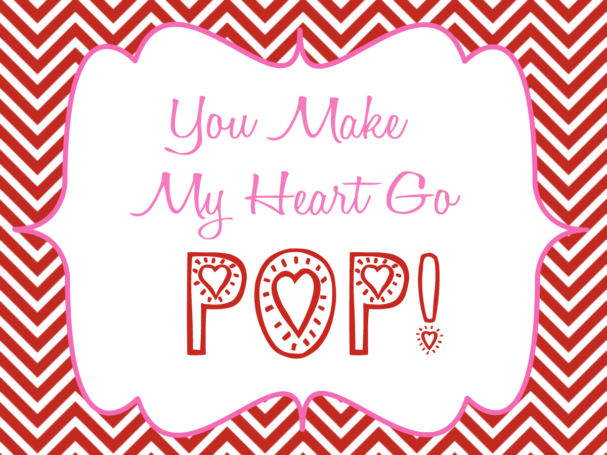 graphic about You Make My Heart Pop Valentine Printable titled By yourself Generate My Centre Transfer Pop A Valentines Working day Printable