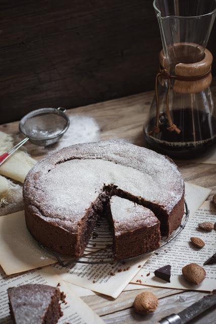 Torta caprese, gâteau au chocolat et amandes sans gluten