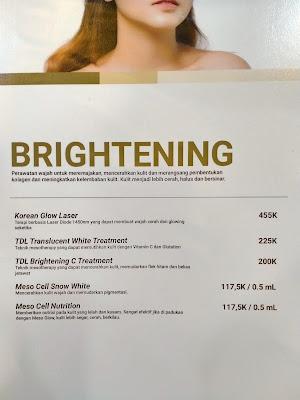 Price List Ella Skin Care Clinic