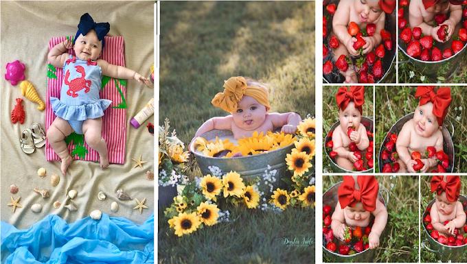 Las 13 fotos más creativas para hacerle a tú bebé
