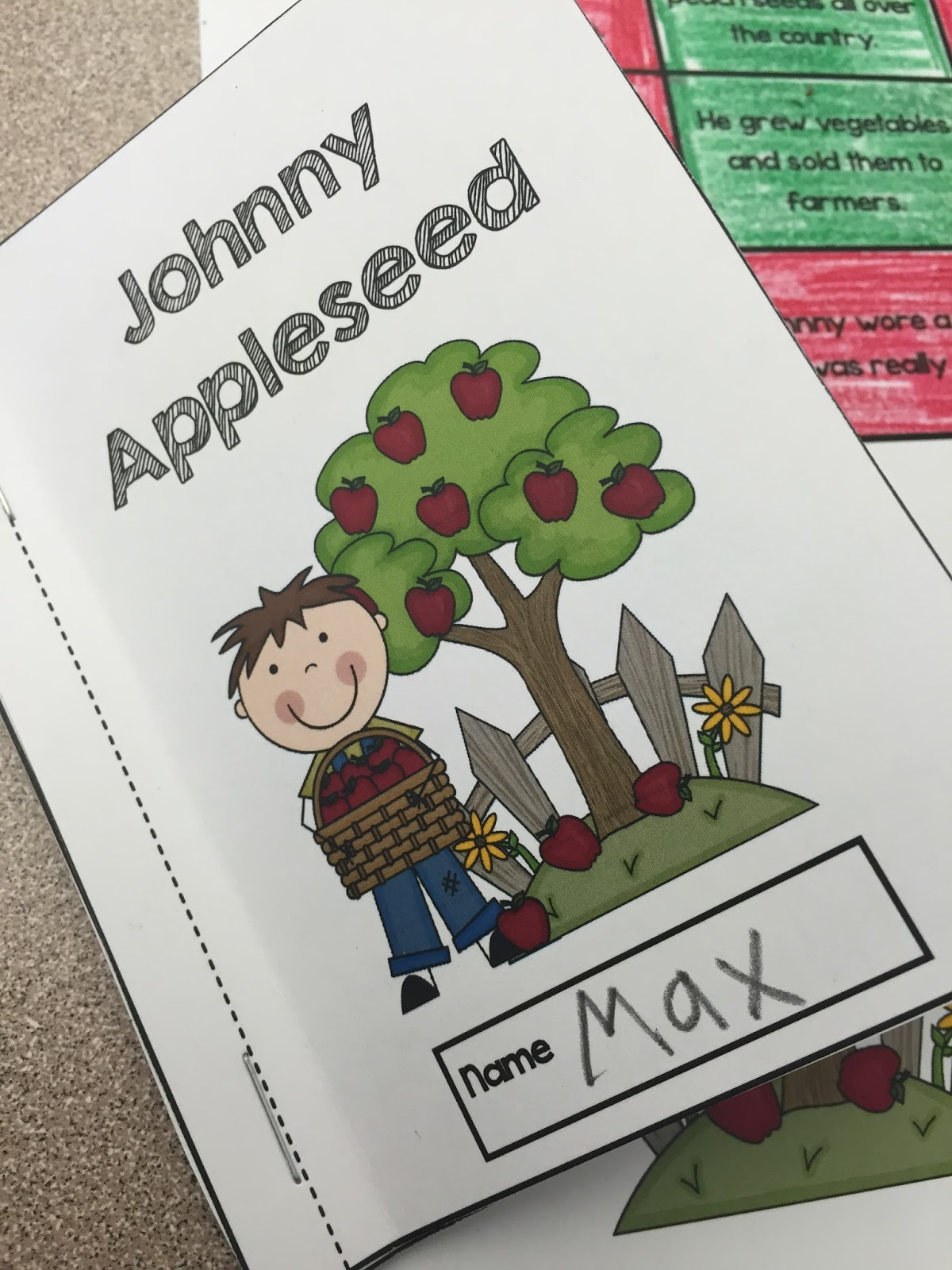 Lory S 2nd Grade Skills Johnny Appleseed Fun