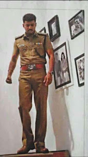 Theri Vijay In Police Dress