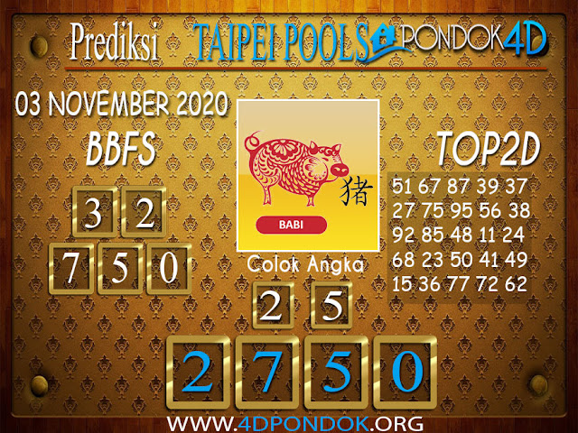 Prediksi Togel TAIPEI PONDOK4D 03 NOVEMBER 2020
