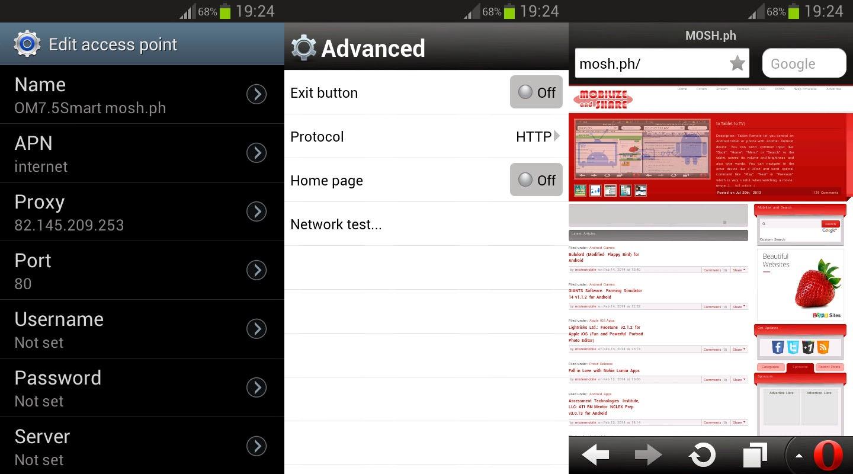 Opera Mini 7 5 for Android (Smart Free Internet