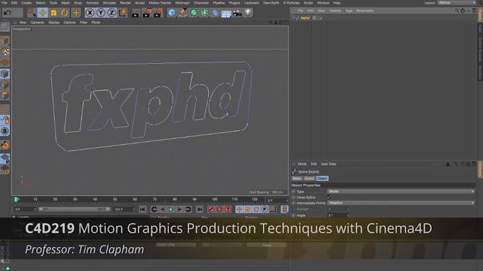 FXPHD – C4D219 Motion Graphics Production Techniques with Cinema 4D