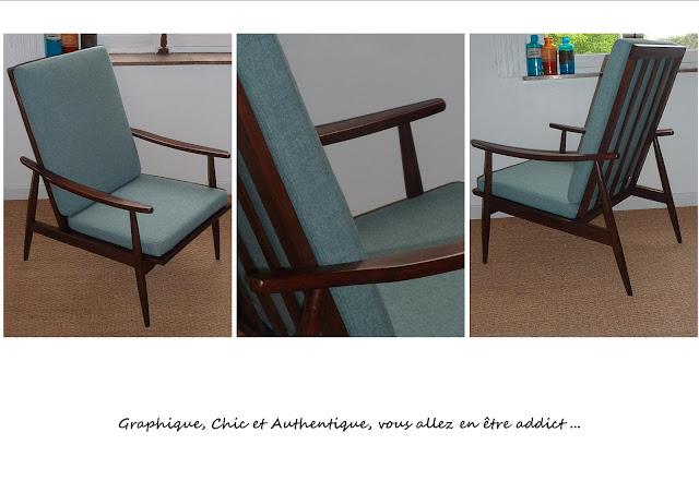 fauteuil scandinave restauré