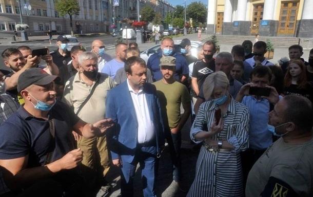 У Вінниці ветерани АТО вимагали покарання для керівництва країни