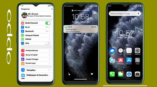Tema Oppo | Realme: iOS  | iPhone Tembus Sistem UI dan Pengaturan