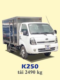 xe tải kia thaco frontier k250 tải trọng 2,4 tấn