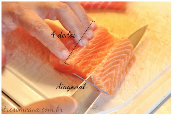 nigiri sushi de salmão