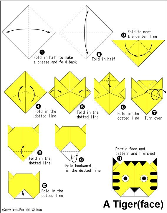 කොටියෙකුගේ මුහුණ හදමු (Origami Tiger(Face)) - Your Choice Way