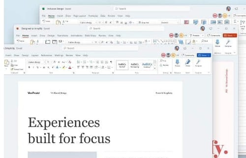 Office gets a new design compatible with Windows 11