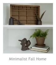 Minimalist Fall Home