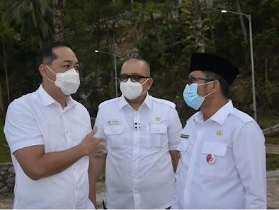 Plt Wako Hendri Septa Dampingi Mendag RI Tinjau Marawa Resort Pantai