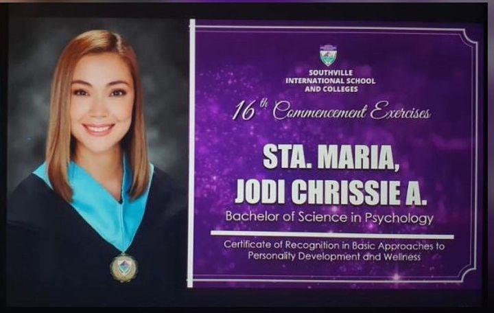 Jodi Sta. Maria earns college degree at 39
