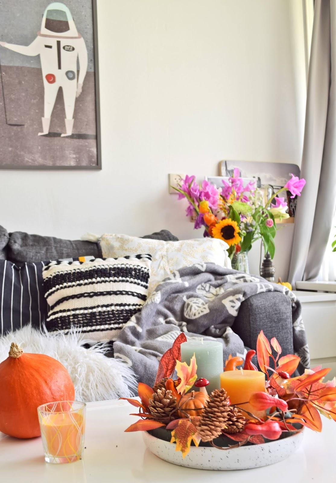Dekorowanie mieszkania na jesień