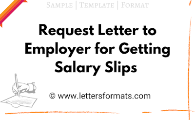 letter format for salary slip from company