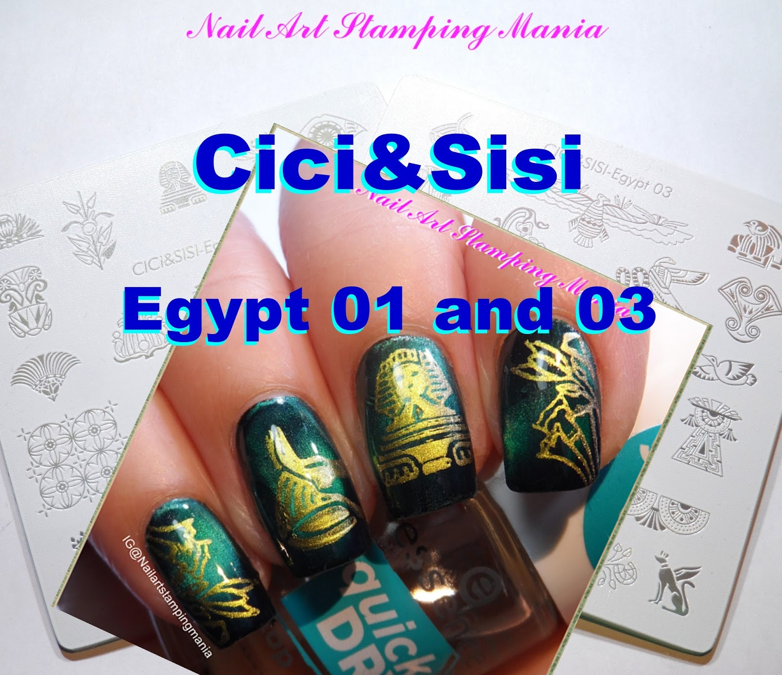 Nail Art Stamping Mania: Magnetic Manicure with Cici&Sisi \
