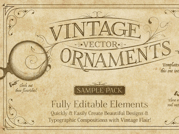 Download Vintage Vector Ornaments Free