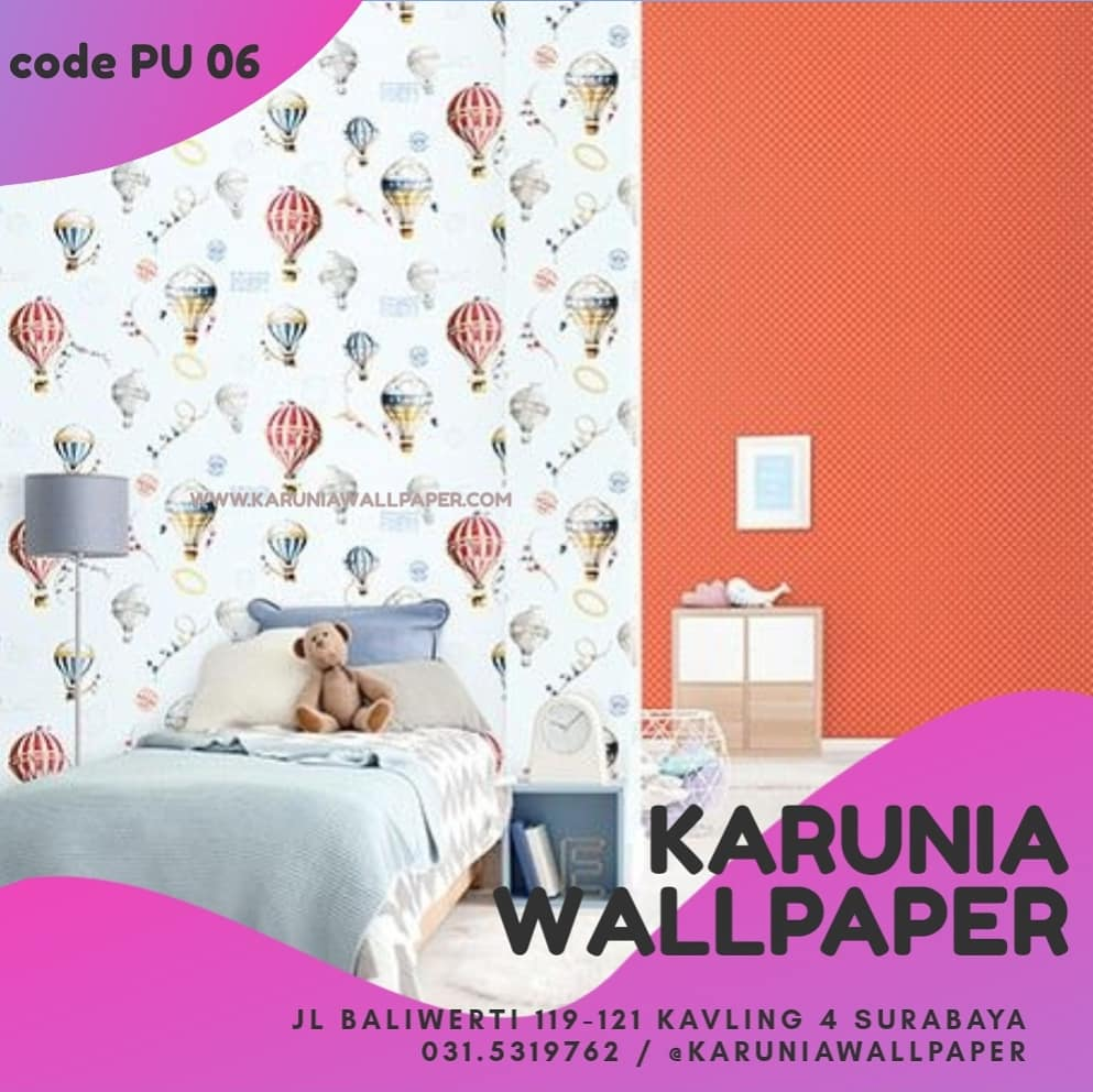 jual wallpaper warna warni anak
