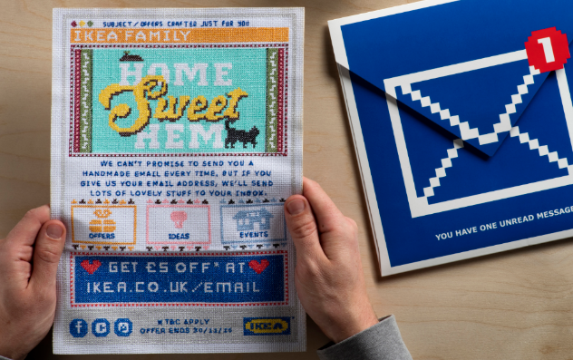 Lida Handcrafts New Campaign For Ikea With Cross Stitched Mailers