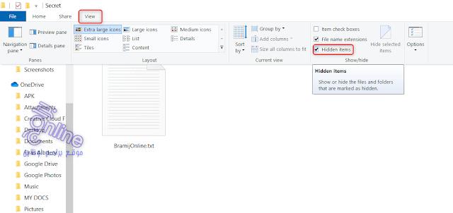 كيفية إظهار الملفات المخفية على الكمبيوتر