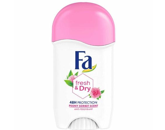 Deodorant stick antiperspirant cu parfum de bujori Fa Fresh & Dry, 50 ml