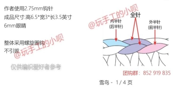 Описание вязания крючком птички (1)