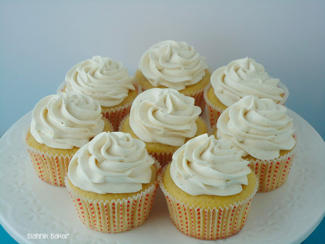 Brown Butter Peach Cupcakes via Blahnik Baker