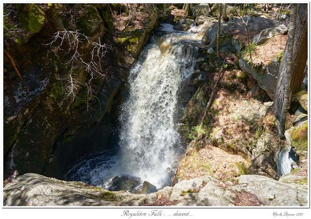 Royalston Falls: ... descent...