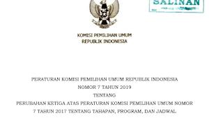 Download PKPU RI Nomor 7 Tahun 2019