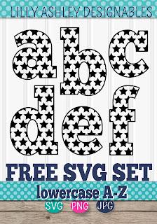 free letter svg set lilly ashley