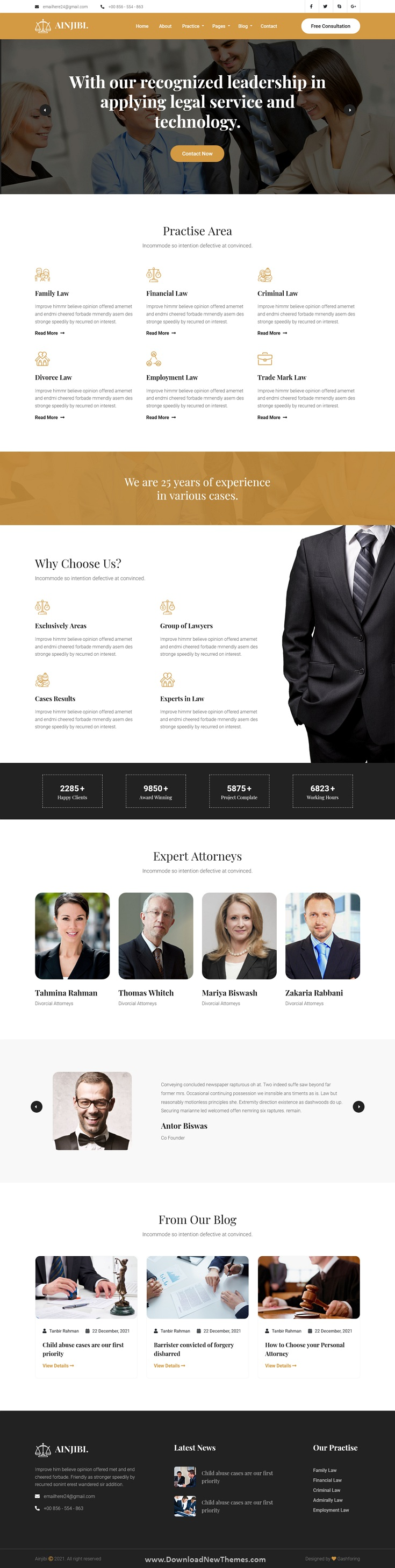 Attorney and Lawyer Bootstrap Template