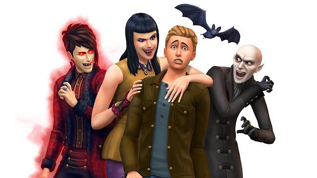 Imagen con unos personajes de vampiros en Los Sims 4 Vampiros