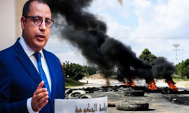 تونس : هشام مشيشي يأمر بالتحرك الفوري لبسط القانون وفتح الطرقات