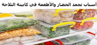 أسباب تجمد الخضار والأطعمة في كابينة الثلاجة