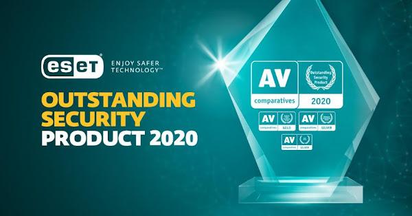 """ESET Internet Security reconhecido com o prémio """"Outstanding Product Award"""" pela AV-Comparatives"""