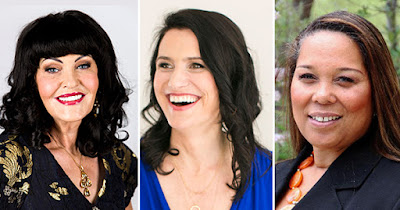 Tracy Matthews, Richelle Shaw, and Hilary Devey