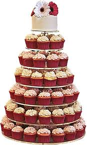 Cupcakes in tiers for party celebration on Christmas and New Year