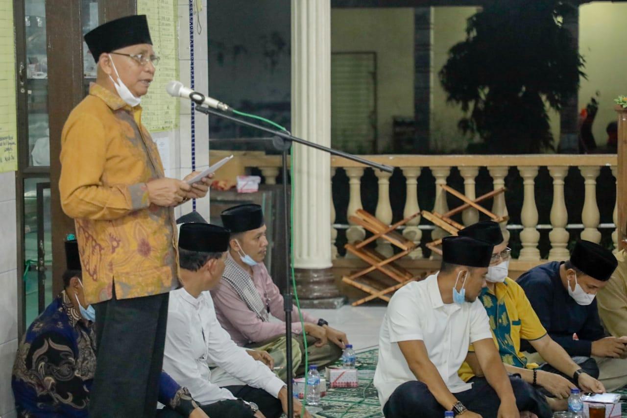 Safari Ramadhan di Masjid Baiturrahman, Bupati Asahan Ajak Masyarakat Untuk Tidak Mudik dan Menerapkan Protokol Kesehatan