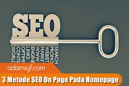 3 Metode SEO On Page Pada Homepage