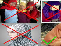Inilah Cara Memakai Tudung Yang Diharamkan Islam, Wajib Baca