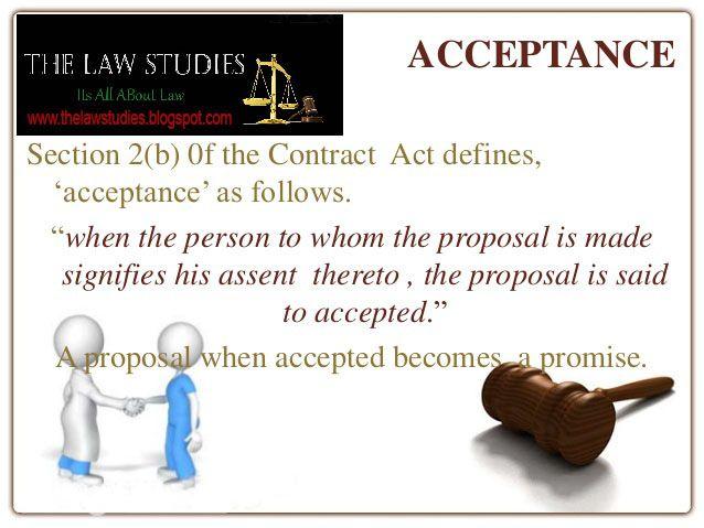 Acceptance Legal Definitions Essentials