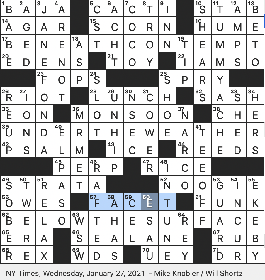 Rex Parker Does The Nyt Crossword Puzzle January 2021