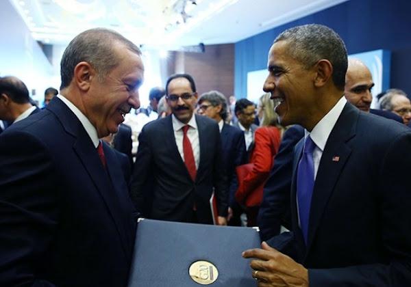 """""""Cordial"""", """"attaché à la démocratie"""" : quand Obama fait l'éloge de... l'autocrate islamiste  Erdoğan"""