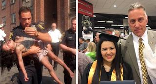 Πυροσβέστης έβγαλε 5χρονο κoριτσάκι από τις φλόγες και 20 χρόνια μετά πήγε στην αποφοίτηση του
