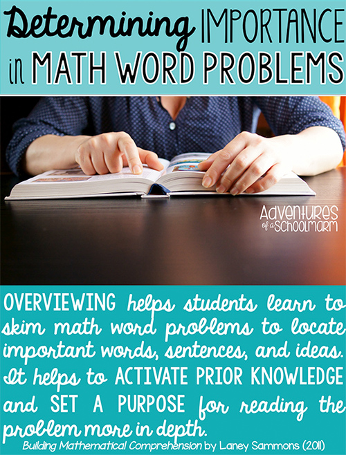 3 Strategies to Determine Importance in Math Word Problems ...