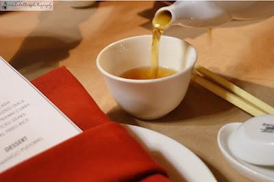 Chinese tea sebagai hidangan pembuka .(Dok.Pri)