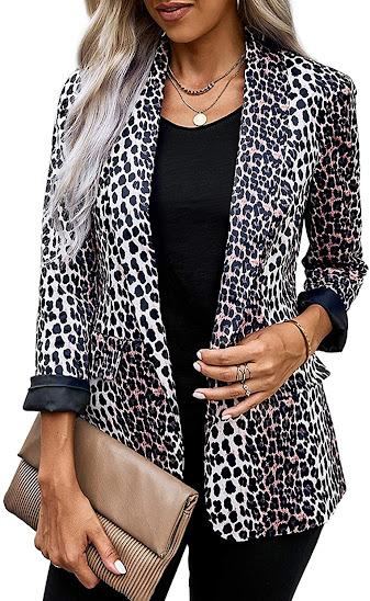 Leopard Blazers for Women