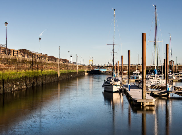 Photo of ice on the surface of the water at Maryport Marina
